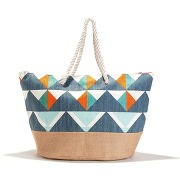 Sac shopping motif graphique marine