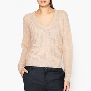Pull col v fine maille nathan nude