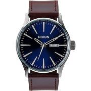 Montre nixon sentry leather marron nixon homme