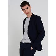 Veste maille piquée-bleu marine-l,m,s,xl,xxl-vestes et costumes