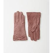 Gants en cuir suede femme rose - promod