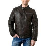 Vestes en cuir mac douglas pour homme - mac douglas gpg-109 marron