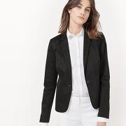 Soldes ! veste blazer, satin de coton - feminin - noir - la redoute collections