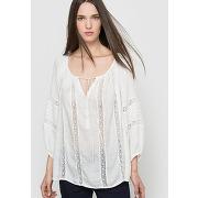 Blouse manches 3/4 - feminin - blanc - vero moda