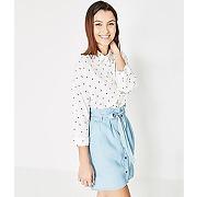 Soldes - jupe ceinturee femme jean clair - promod