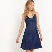 Soldes ! robe fines bretelles, joli dos - feminin - bleu - mademoiselle r