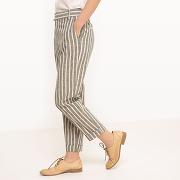 Soldes ! pantalon rayé, lin - feminin - autres - la redoute collections