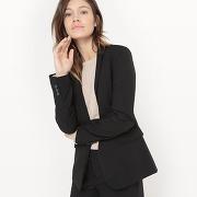 Soldes ! veste de tailleur, longueur 65 cm - feminin - noir - la redoute collections