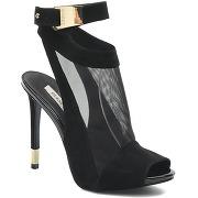 Escarpins guess pour femme - noir - disponibles en 36|37|38|39|40|41 - cuir/textile.