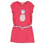Robe patch ananas rouge - billieblushrobe patch ananas rouge - fille