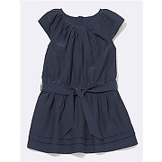 Robe fille manches courtes marine