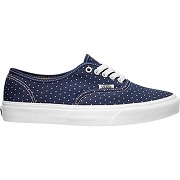 Baskets basses à lacets authentic slim bleu femme - vans