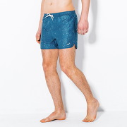 Maillot de bain, broderie requin homme