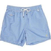 Shorts de bain polo ralph lauren - maillot de bain vichy bleu ciel
