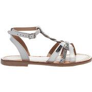 Nu-pieds fille - les tropeziennes - blanc argent - millim
