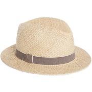 Chapeau de paille avec galon couleur naturel/ galon marron - monoprix femme
