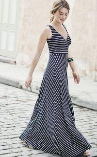 Ma robe longue à rayures