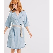 Robe portefeuille femme jean clair - promod