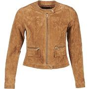 Vestes en cuir femmes only paige marron