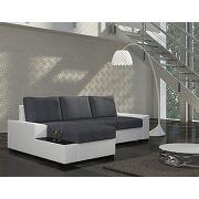 Canapé d'angle convertible bicolore avec coffre elivard 2