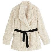 Manteau en fausse fourrure ecru - promod