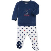 60c5d3a7ac3a5 épuisé Pyjama bébé garçon à pieds petit bateau bleu