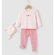 Pyjama 2 pièces + doudou 0mois-3 ans rouge - r mini