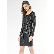Patrizia pepe - robe courte en cuir synthétique