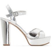 Soldes ! sandales talon haut et plateau mexico - feminin - argent - dune london
