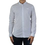 Soldes ! chemise imprimée slim doya - masculin - blanc - kaporal