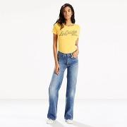 Soldes ! jean vintage wide leg - feminin - bleu - levi's