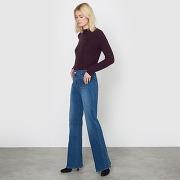 Soldes ! jean flare taille haute - feminin - bleu - la redoute collections