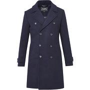Manteau en laine coatarmy bleu galeries lafayette homme