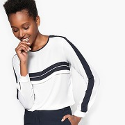 Soldes ! tee-shirt à rayures - feminin - blanc - la redoute collections