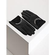 Gants en cuir à chaînes taille t-m noir
