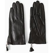 Gants en cuir femme noir - promod