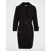 Manteau en maille côtelée taille 42 noir