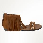 Sandales cuir camel