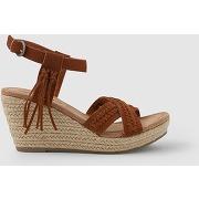 Sandales compensées naomi marron