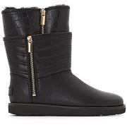 Boots cuir aviva noir