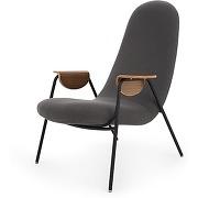 Drew, fauteuil, gris ardoise