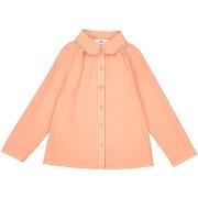 Chemisier col brodé 3-12 ans orange pêche-orange-3 ans-enfant bébé > fille 3-16 ans > blouse, chemisier