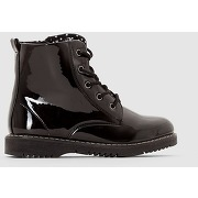 Bottines 26-39 noir verni