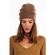 Bonnet en laine pil278 - american vintage, marron - laine