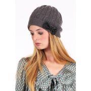 Bonnet paillettes - lynn adler, gris anthracite - coton