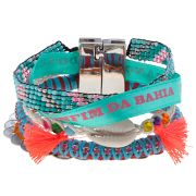 Hipanema sun small multi-layer friendship bracelet, turquoise