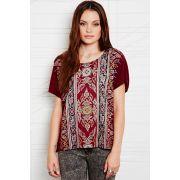 Title unknown - boho folk - t-shirt avec ourlet asymétrique