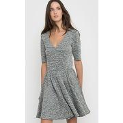 Soldes ! robe en maille - feminin - gris - le temps des cerises