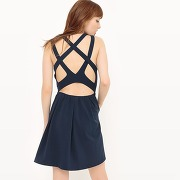 Soldes ! robe jeux de bretelles croisées, dos ouvert - feminin - bleu - see u soon