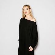 Robe noir jersey de coton